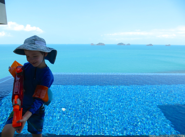 Conrad Koh Samui Review - Preparing for a Water Fight in the Infinity Pool