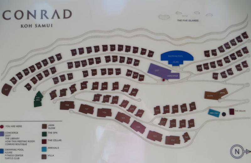 Conrad Koh Samui Villa Resort Map