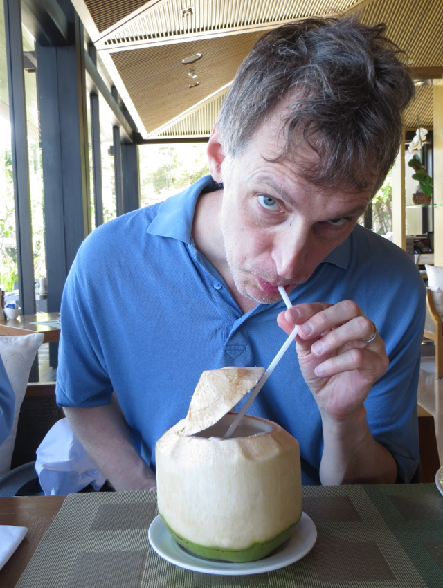 Conrad Koh Samui Zest Restaurant Review - Fresh Coconut Water