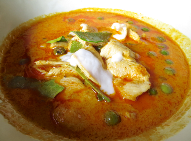 Conrad Koh Samui Zest Restaurant Review, Menu and Prices - Panang Chicken Curry