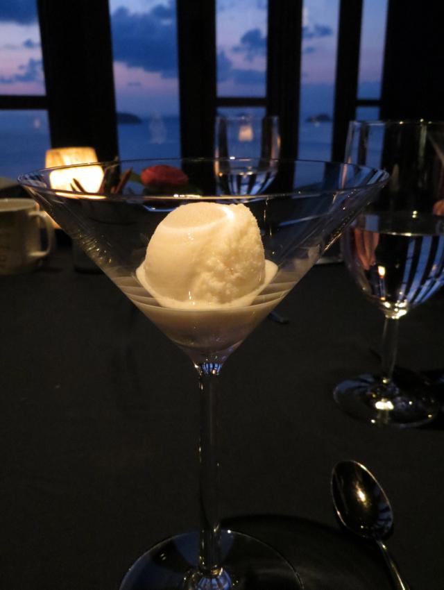 Jahn Restaurant Review, Conrad Koh Samui - Sorbet Palate Cleanser