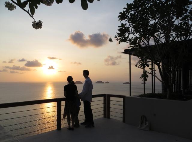 Enjoying the Sunset at Jahn, Conrad Koh Samui
