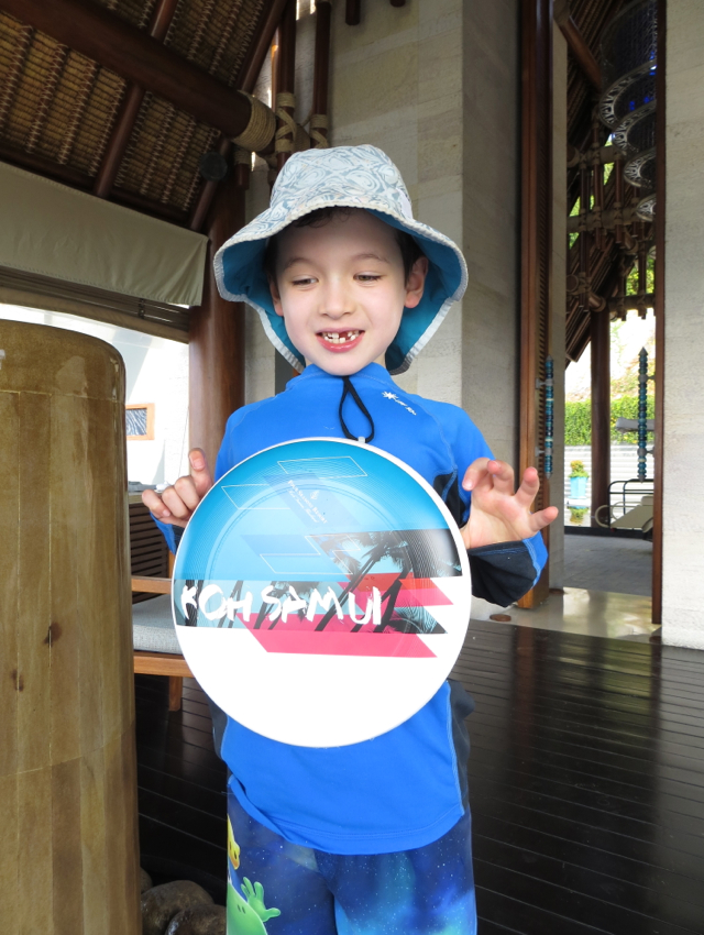 Four Seasons Koh Samui Review - Kids Welcome Amenity-Frisbee