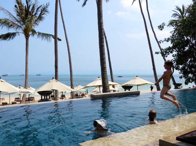 Four Seasons Koh Samui Review - Pool and Beach