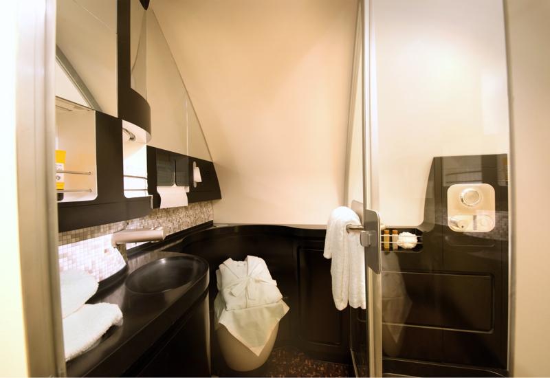 Etihad A380 The Residence Bathroom with Shower
