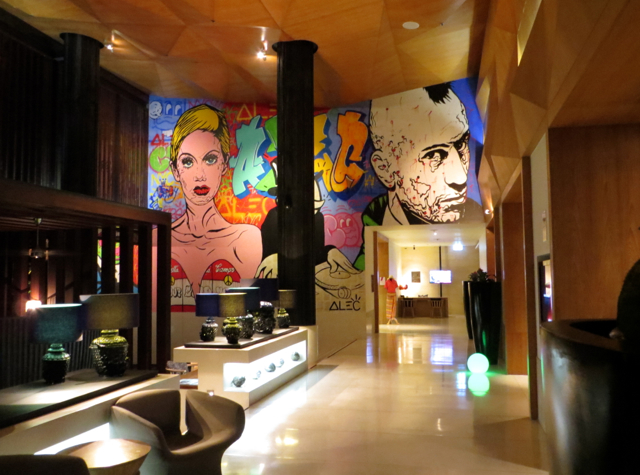W Retreat Koh Samui Review - Alec Monopoly Mural in Lobby