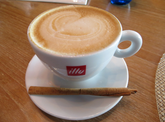W Koh Samui Breakfast and Kitchen Table Review - Illy Cappucino