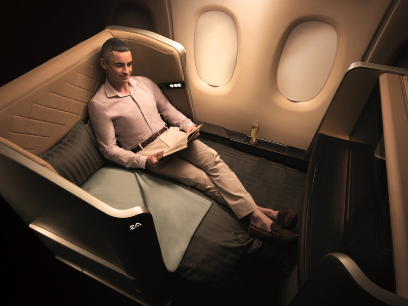 Singapore Airlines New First Class Seat on the 777-300ER