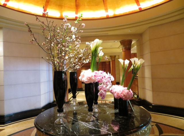 Four Seasons Singapore Review - Lobby Flowers
