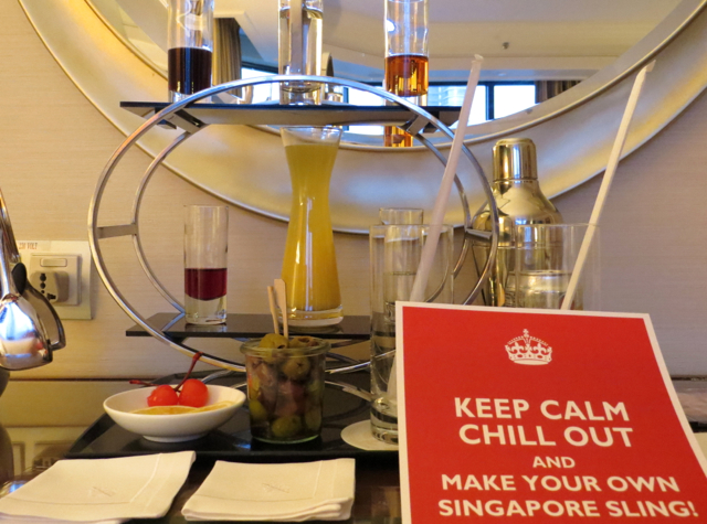 Four Seasons Singapore Review - Make Your Own Singapore Sling