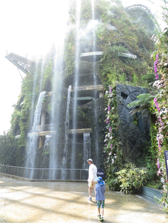 Singapore Gardens by the Bay Review - Cloud Forest Dome Waterfall