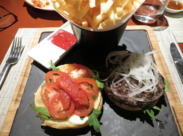 One Ninety Singapore Review - Wagyu Burger and Fries