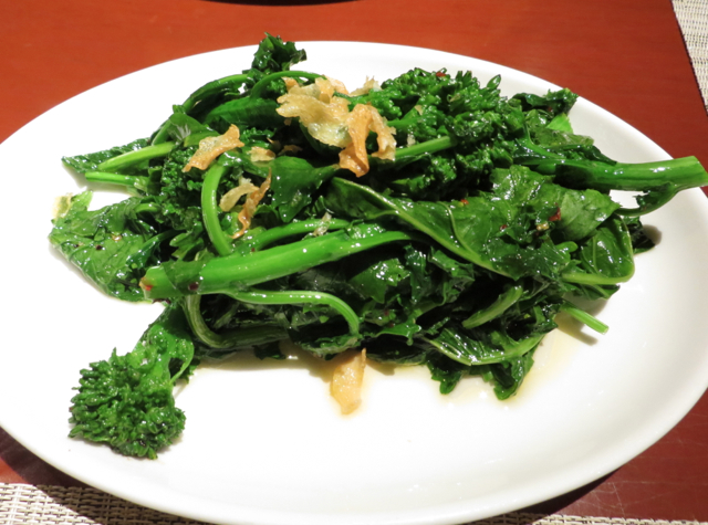 One Ninety Singapore Review - Broccoli Rabe with Garlic Chips