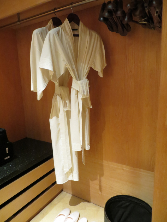 Amanjiwo Review - Closet with Bathrobes and Slippers