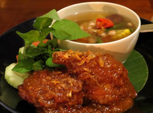 Amanjiwo Restaurant Food - Ayam Goreng Bumbu (Fried Coriander Chicken)