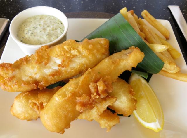 Amanjiwo Restaurant Food - Beer Battered Fish and Chips