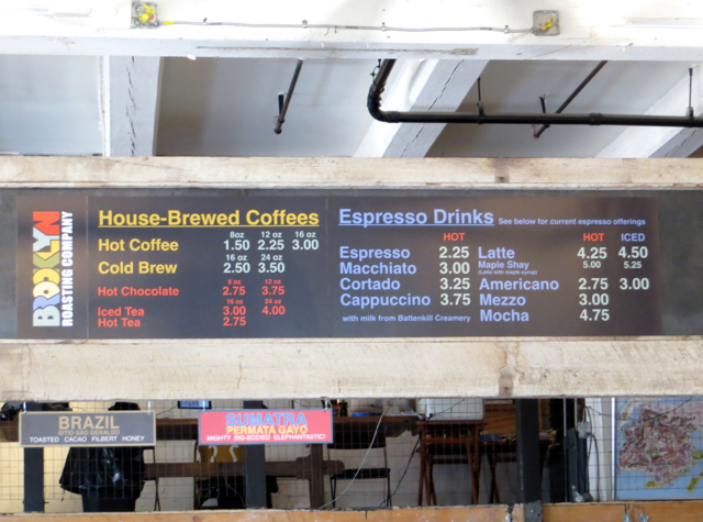 Brooklyn Roasting Company Menu