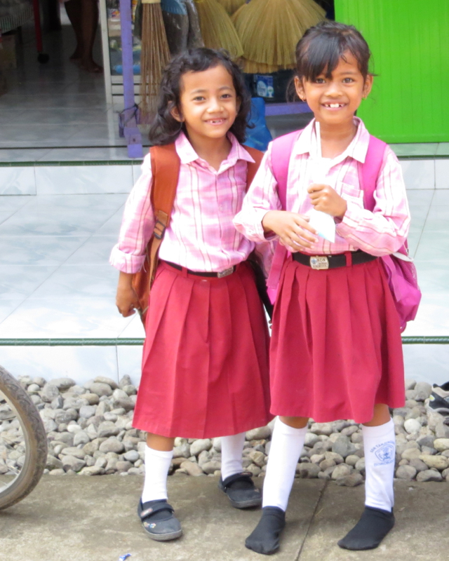 Andong Ride, Borobudur - Smiling Schoolkids