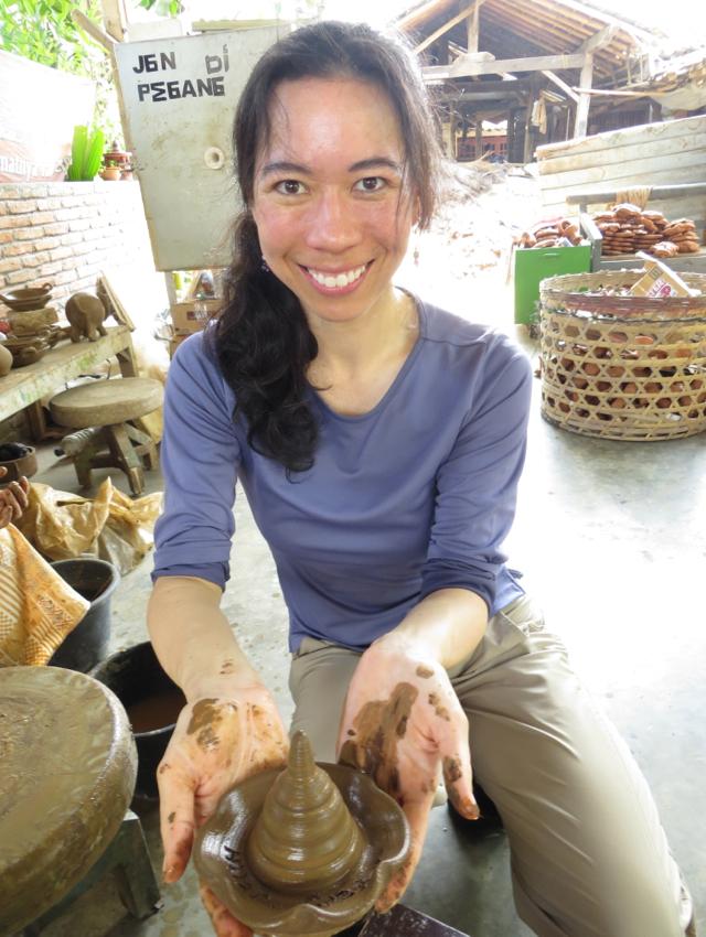 Just After Making a Clay Stupa, Borobudur
