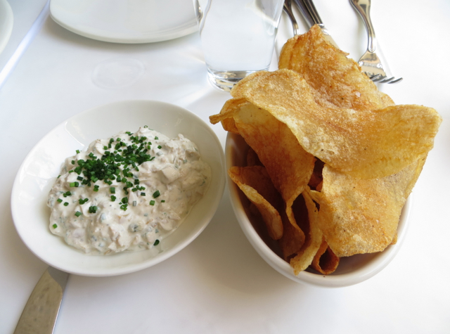 The Clam NYC Review - The Clam Dip with Potato Chips