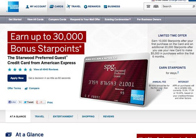 SPG AMEX 30K Bonus Offer - Not Worth It