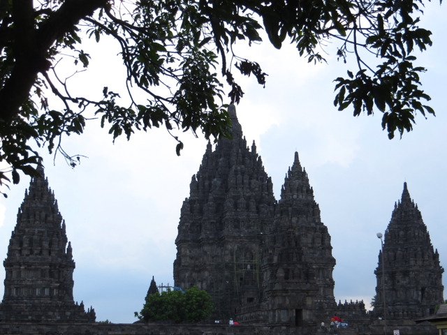 Prambanan Temples Glimpsed Through the Trees