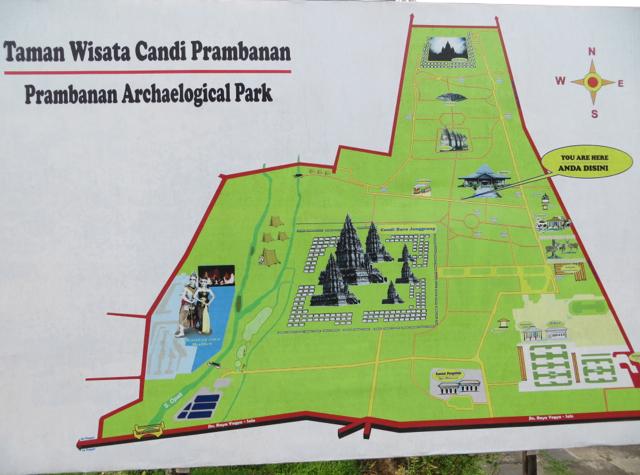 Prambanan Temple Map