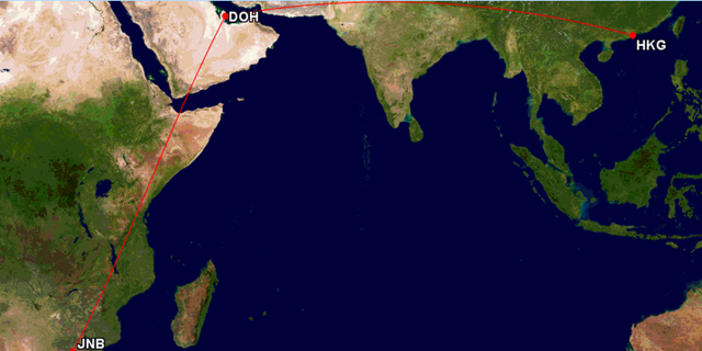 Qatar AAdvantage Award Routing Exceptions: Africa to Asia via Doha