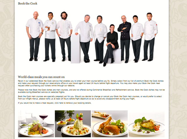 Singapore Airlines Book the Cook