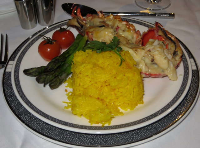 Airlines with Best First Class Food - Singapore Airlines Book the Cook - Lobster Thermidor