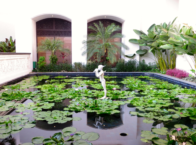 Four Seasons Bangkok - Lily Pond Near Entrance