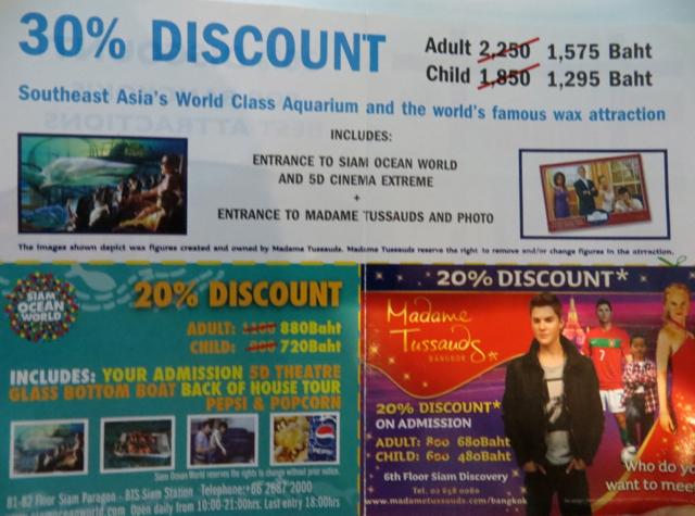 Siam Ocean World Bangkok Aquarium Discount