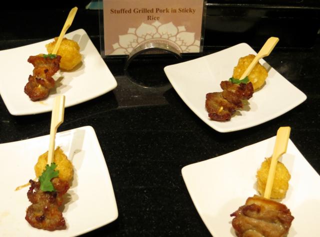Stuffed Grilled Pork with Sticky Rice, Four Seasons Bangkok Executive Club Lounge
