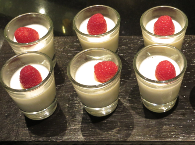 Vanilla Bean Panna Cotta with Raspberry, Four Seasons Bangkok Executive Club Lounge