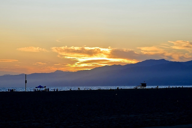 Sunset on Venice Beach, Los Angeles