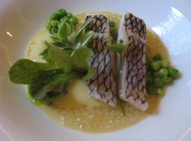 Black Bass with Lettuce and Tapioca, Juni, NYC