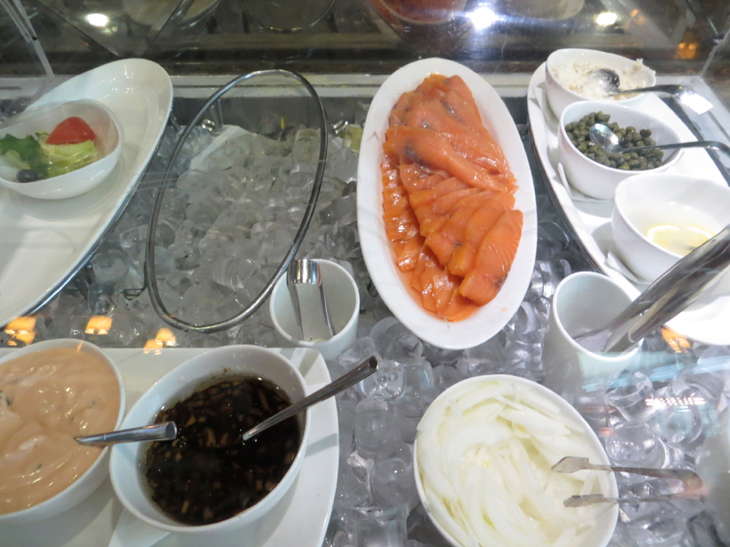 Asiana First Class Lounge Review Seoul - Smoked Salmon