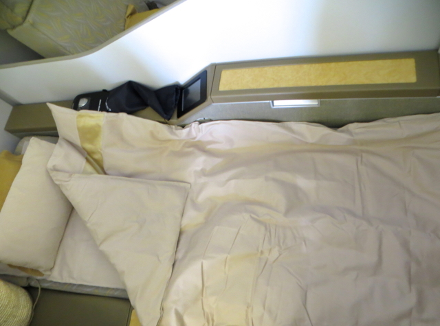 Asiana First Class Suites Review - Bed After Turndown Service