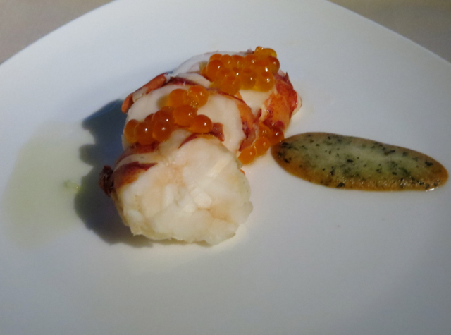 Asiana First Class Suites Review - Lobster Ceviche with Salmon Roe