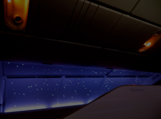 Asiana First Class Suites - Starry Night Sky Lighting