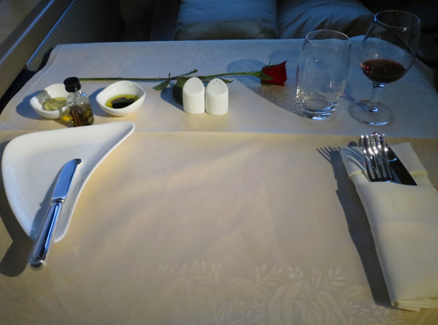 Asiana First Class Suites Review - Lunch Table Setting