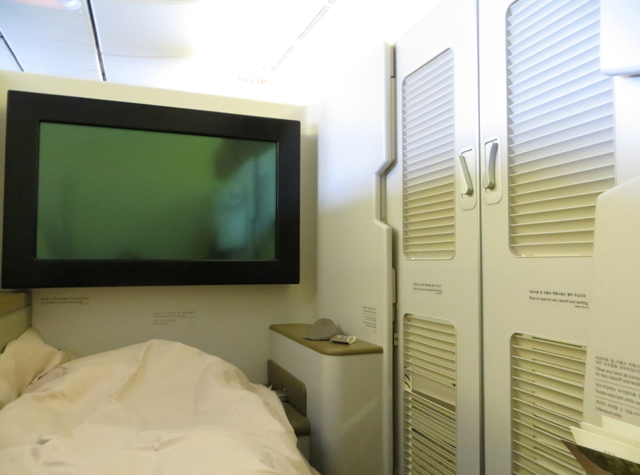 Asiana First Class Suites Review - Suite with Doors Closed