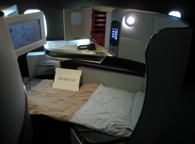 Air France New Business Class Flat Bed Seat