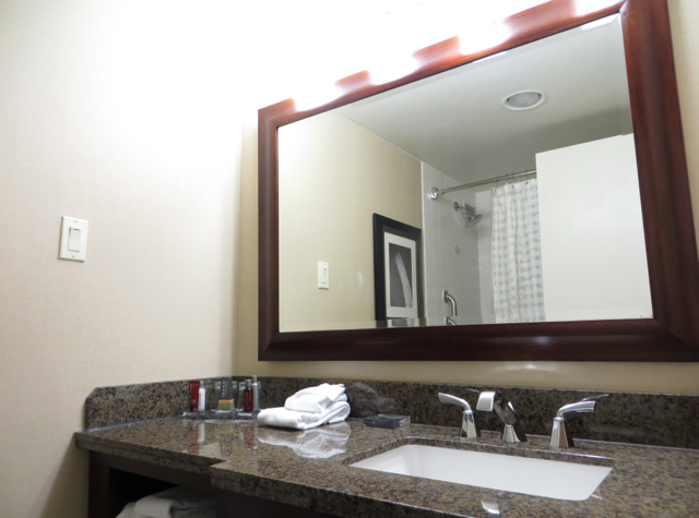 Newark Airport Marriott Hotel Review - Bathroom