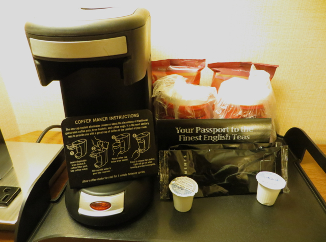 Newark Airport Marriott Hotel Review - Coffeemaker