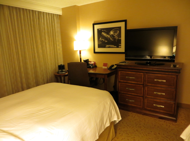 Newark Airport Marriott Hotel Review - Guest Room Desk and TV