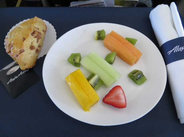 Alaska Airlines First Class Review - Breakfast Fruit Plate
