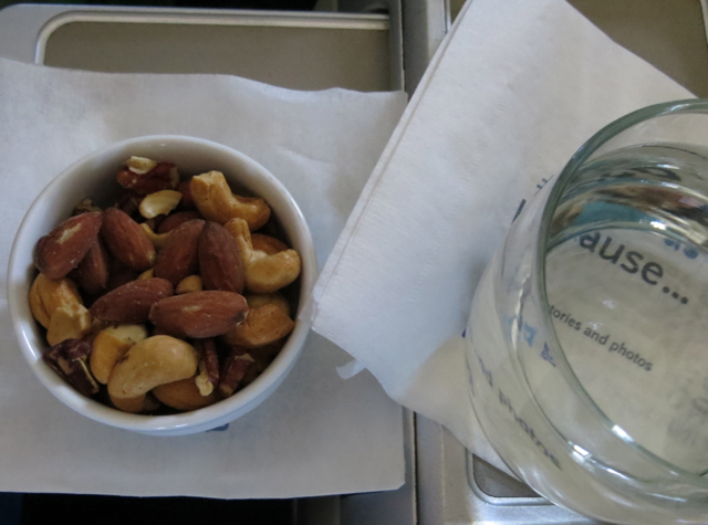 Alaska Airlines First Class Review - Mixed Warm Nuts