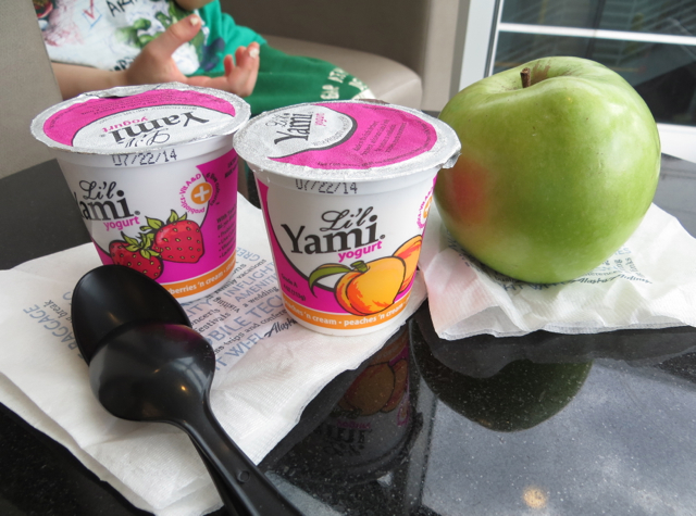 Alaska Airlines Board Room Lounge Review - Yogurt and Apple
