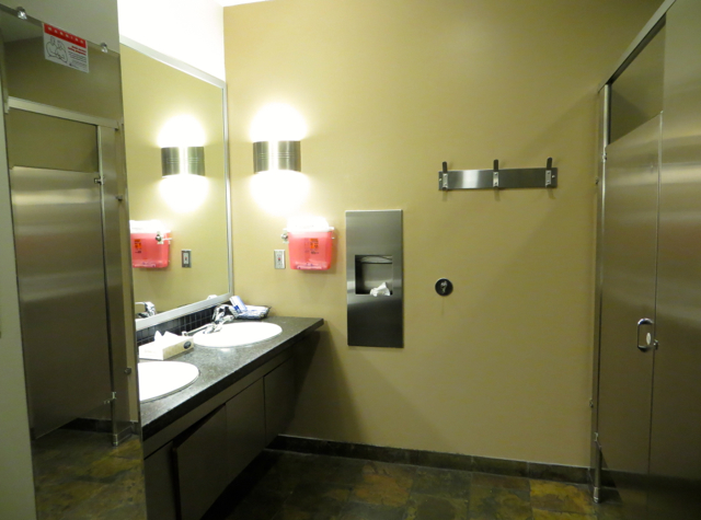 Alaska Airlines Board Room Seattle Lounge Review - Bathroom